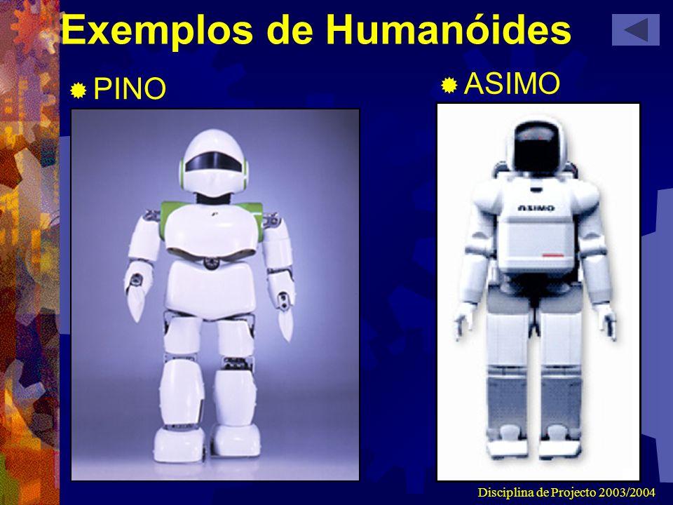 Exemplos de Humanóides