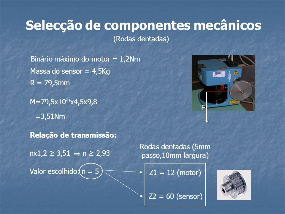 Selecção de componentes mecânicos Relação de transmissão: