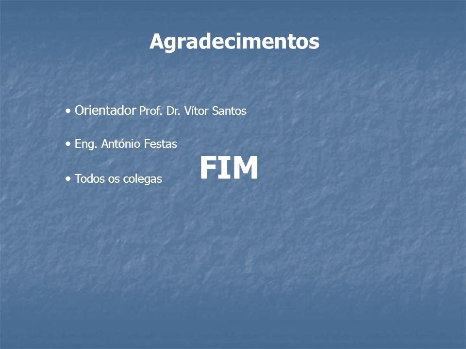 FIM Agradecimentos Orientador Prof. Dr. Vítor Santos