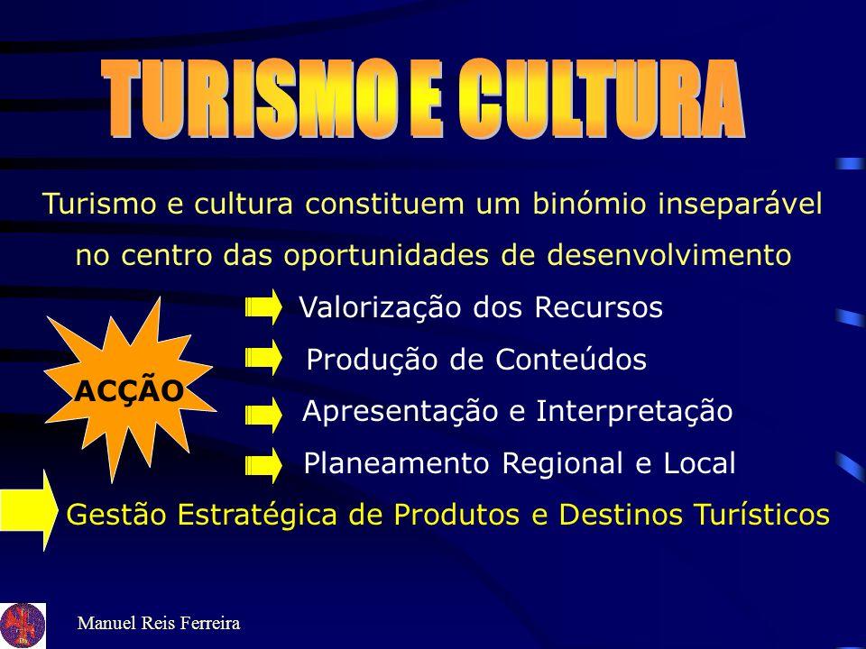 TURISMO E CULTURA Turismo e cultura constituem um binómio inseparável