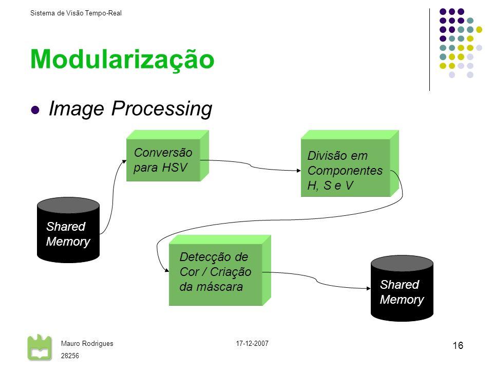 Modularização Image Processing Conversão para HSV