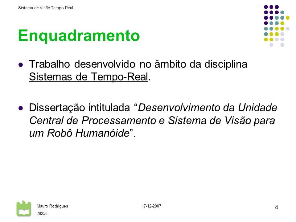 Enquadramento Trabalho desenvolvido no âmbito da disciplina Sistemas de Tempo-Real.
