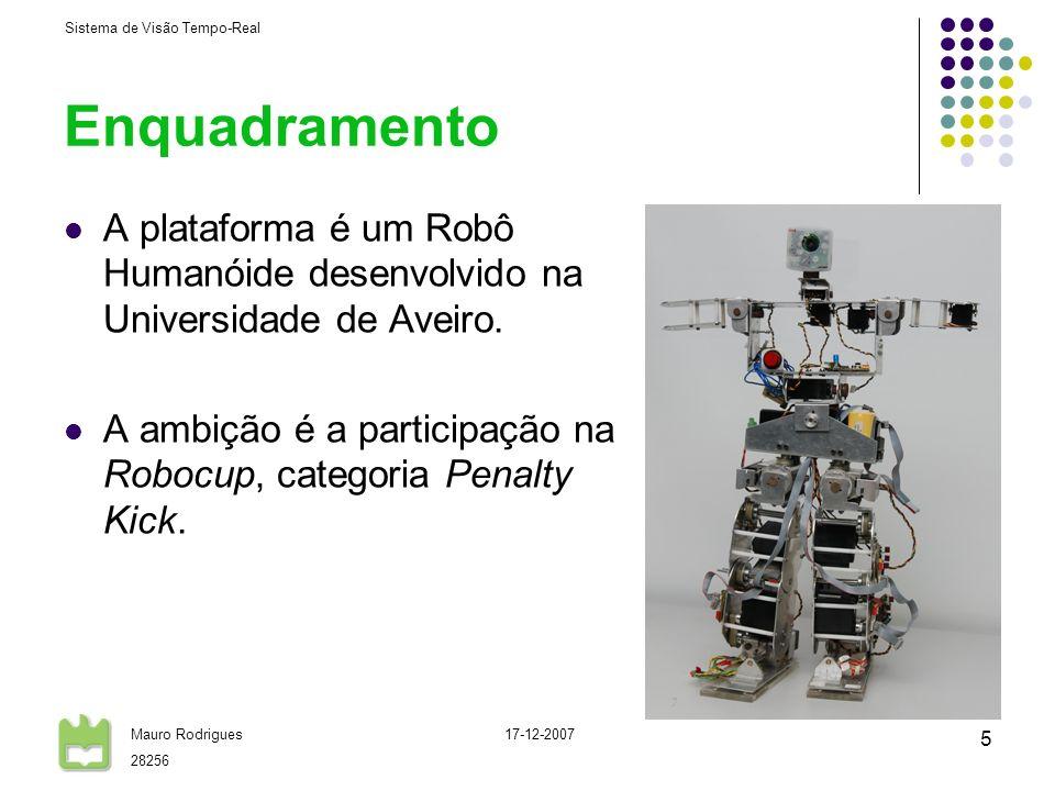 Enquadramento A plataforma é um Robô Humanóide desenvolvido na Universidade de Aveiro.
