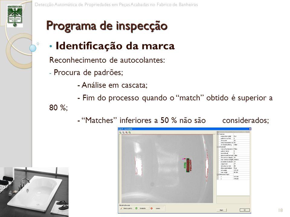 Programa de inspecção Identificação da marca