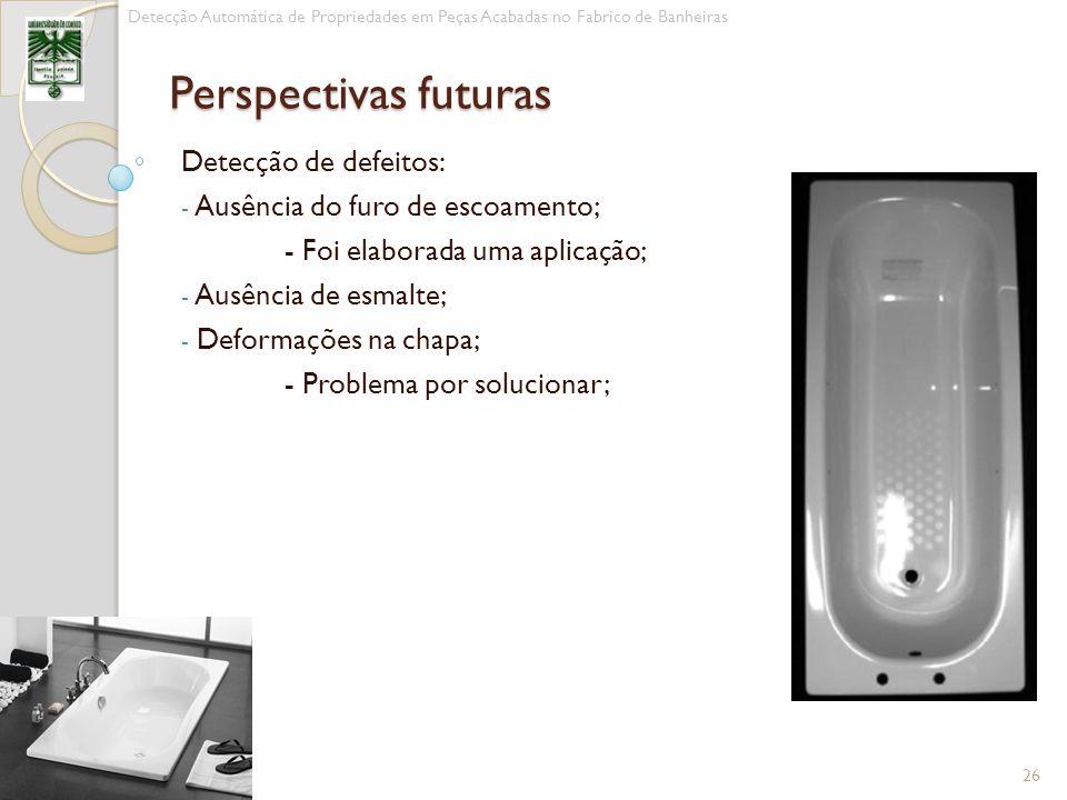 Perspectivas futuras Detecção de defeitos: