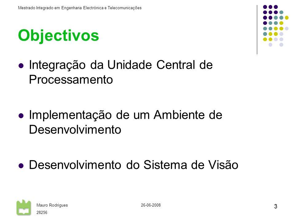 Objectivos Integração da Unidade Central de Processamento