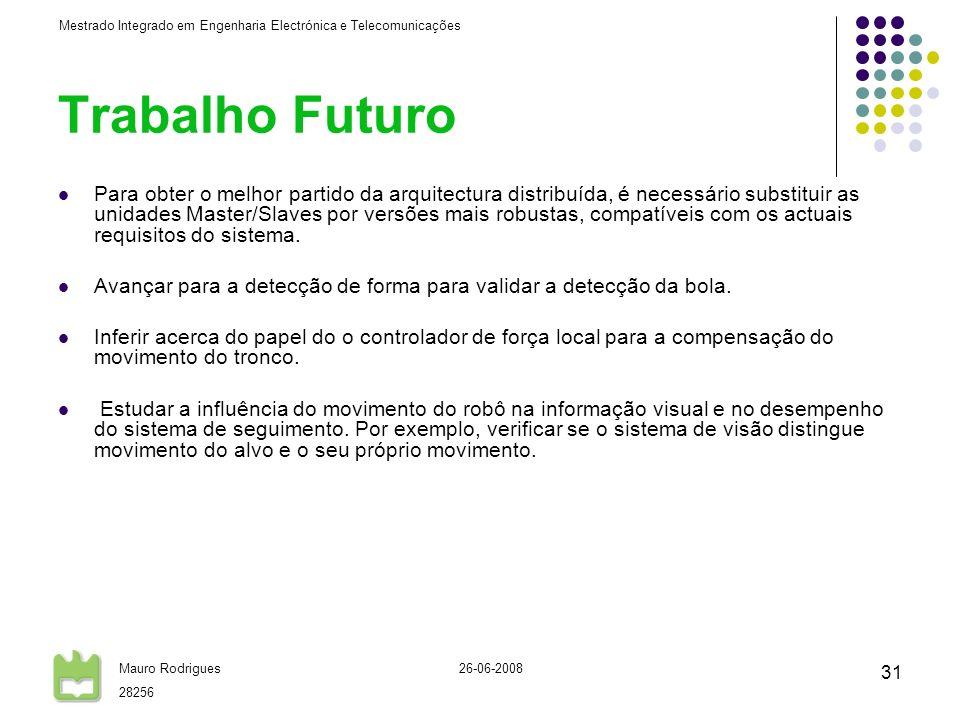 Trabalho Futuro