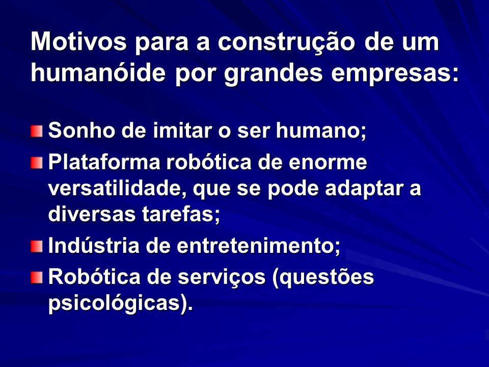 Motivos para a construção de um humanóide por grandes empresas: