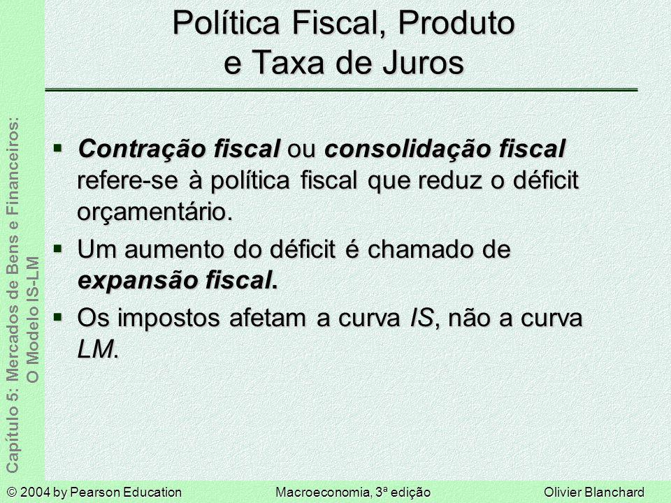Política Fiscal, Produto e Taxa de Juros