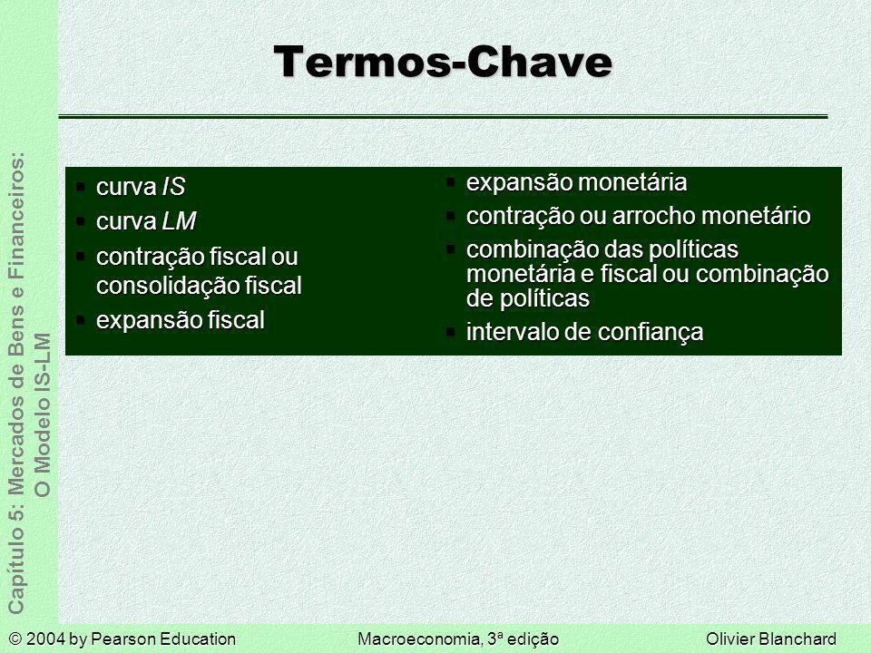 Termos-Chave curva IS curva LM contração fiscal ou consolidação fiscal