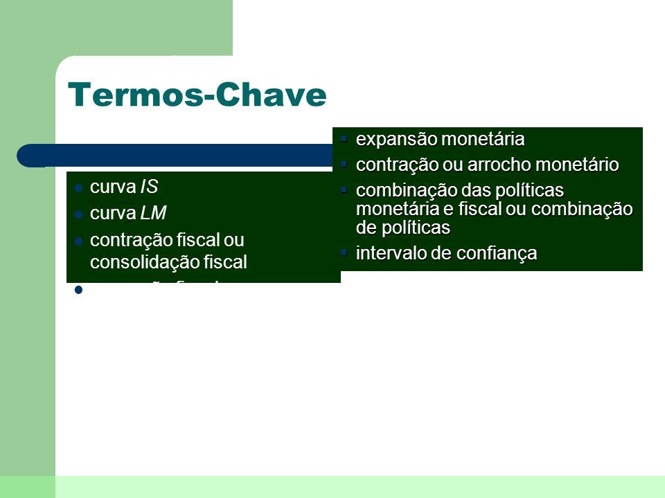 Termos-Chave expansão monetária contração ou arrocho monetário