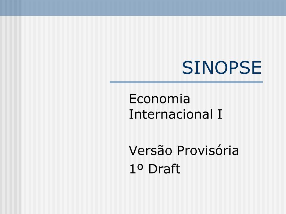 Economia Internacional I Versão Provisória 1º Draft