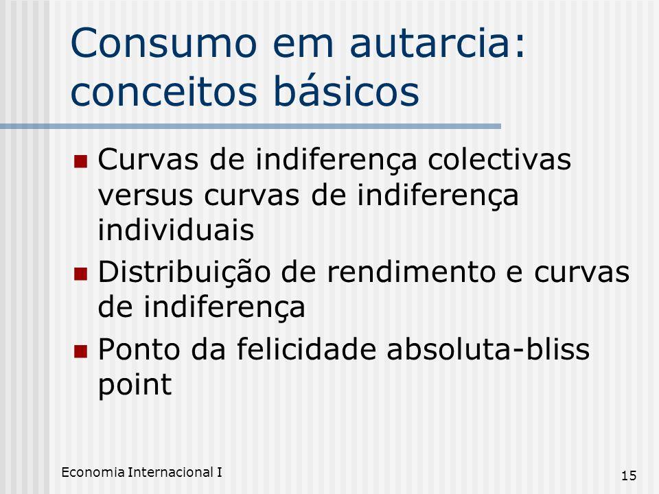 Consumo em autarcia: conceitos básicos