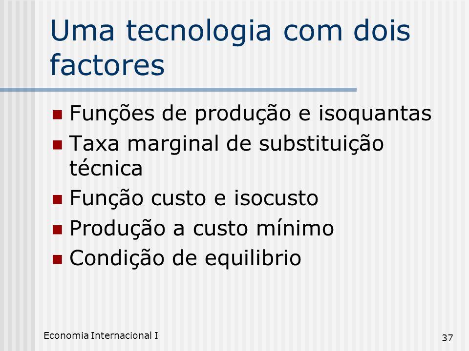 Uma tecnologia com dois factores