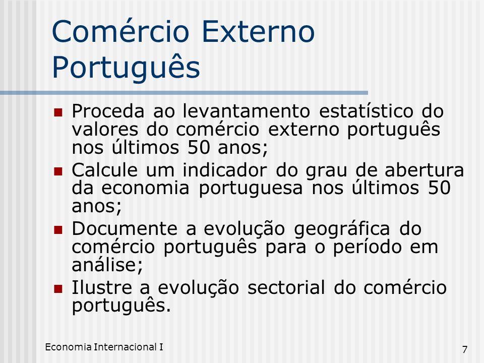 Comércio Externo Português