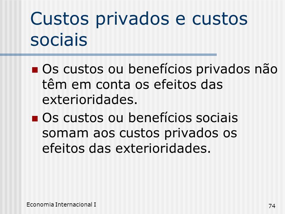 Custos privados e custos sociais