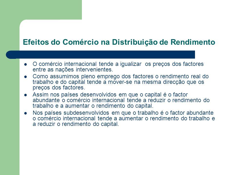 Efeitos do Comércio na Distribuição de Rendimento