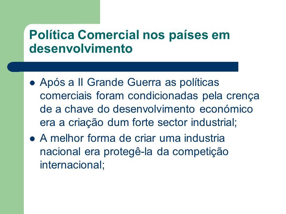 Política Comercial nos países em desenvolvimento