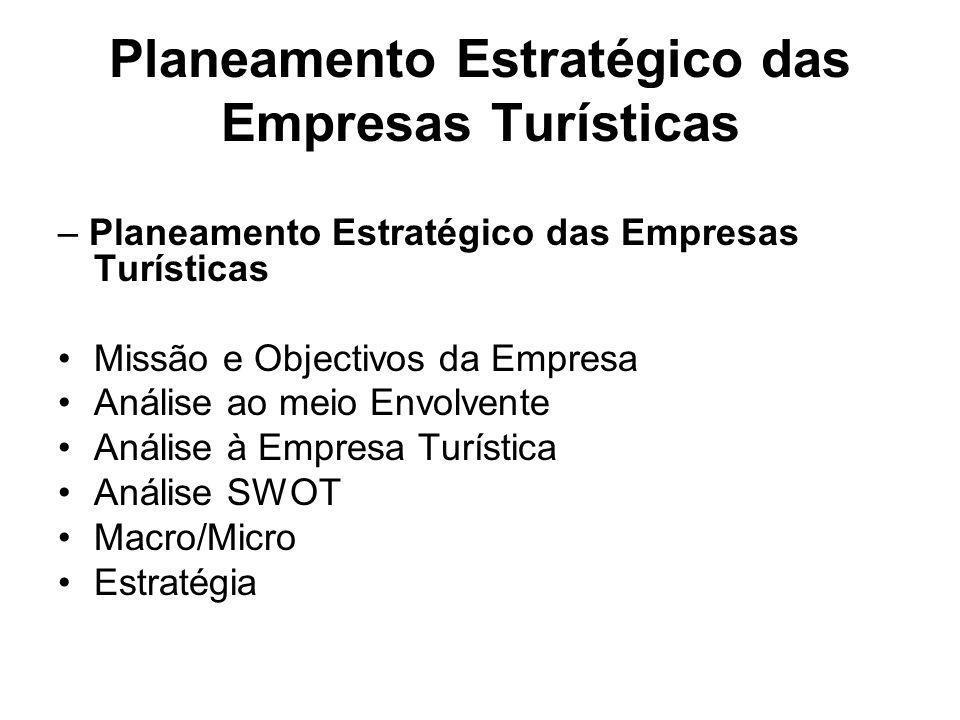 Planeamento Estratégico das Empresas Turísticas