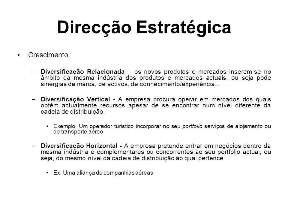 Direcção Estratégica Crescimento