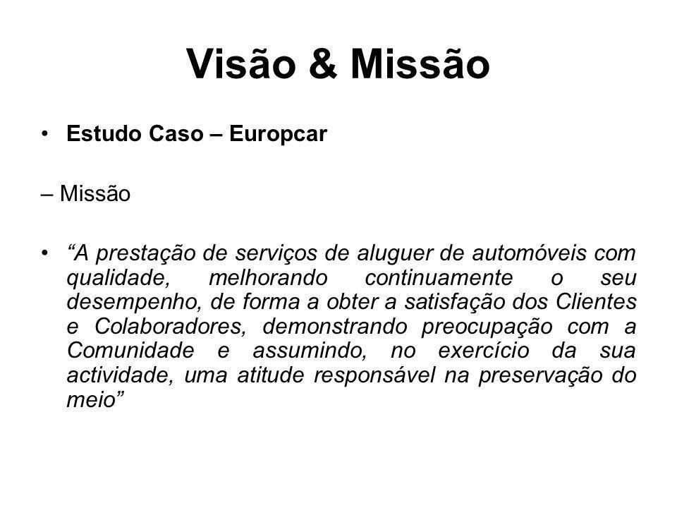 Visão & Missão Estudo Caso – Europcar – Missão