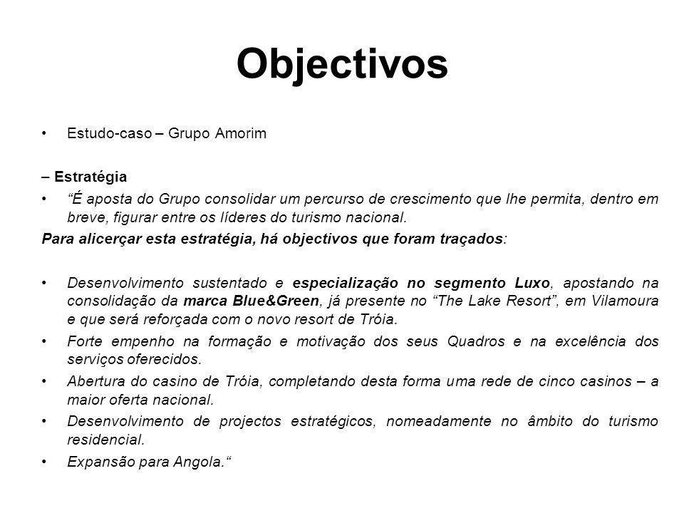 Objectivos Estudo-caso – Grupo Amorim – Estratégia