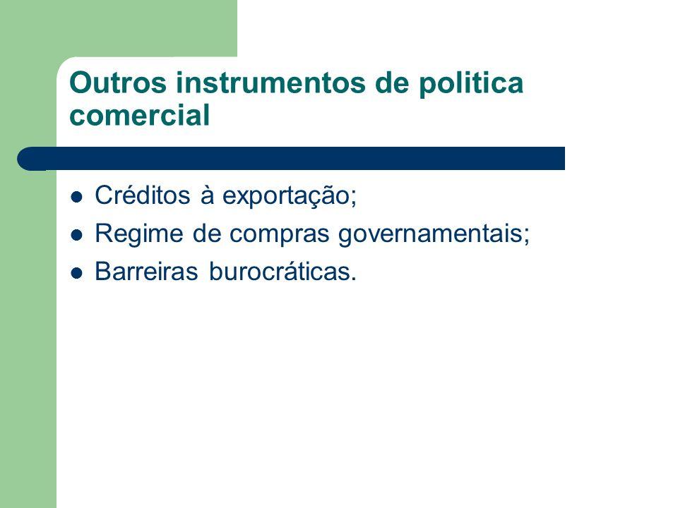 Outros instrumentos de politica comercial
