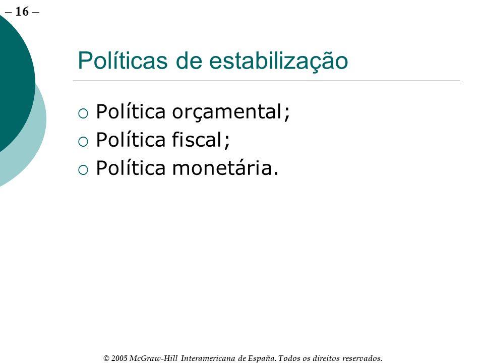 Políticas de estabilização