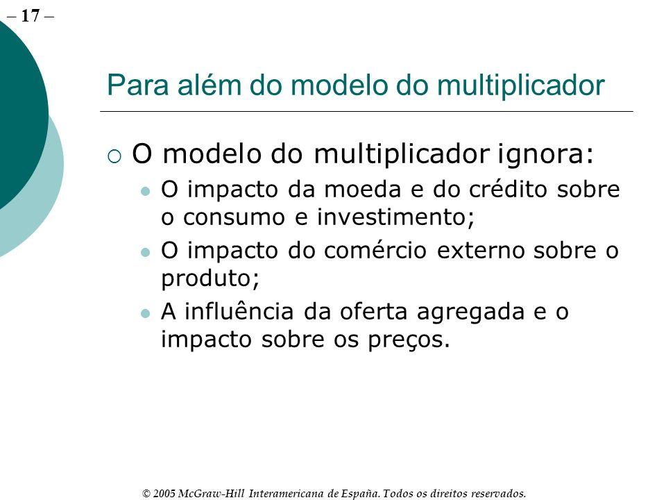Para além do modelo do multiplicador