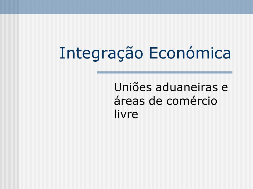 Uniões aduaneiras e áreas de comércio livre