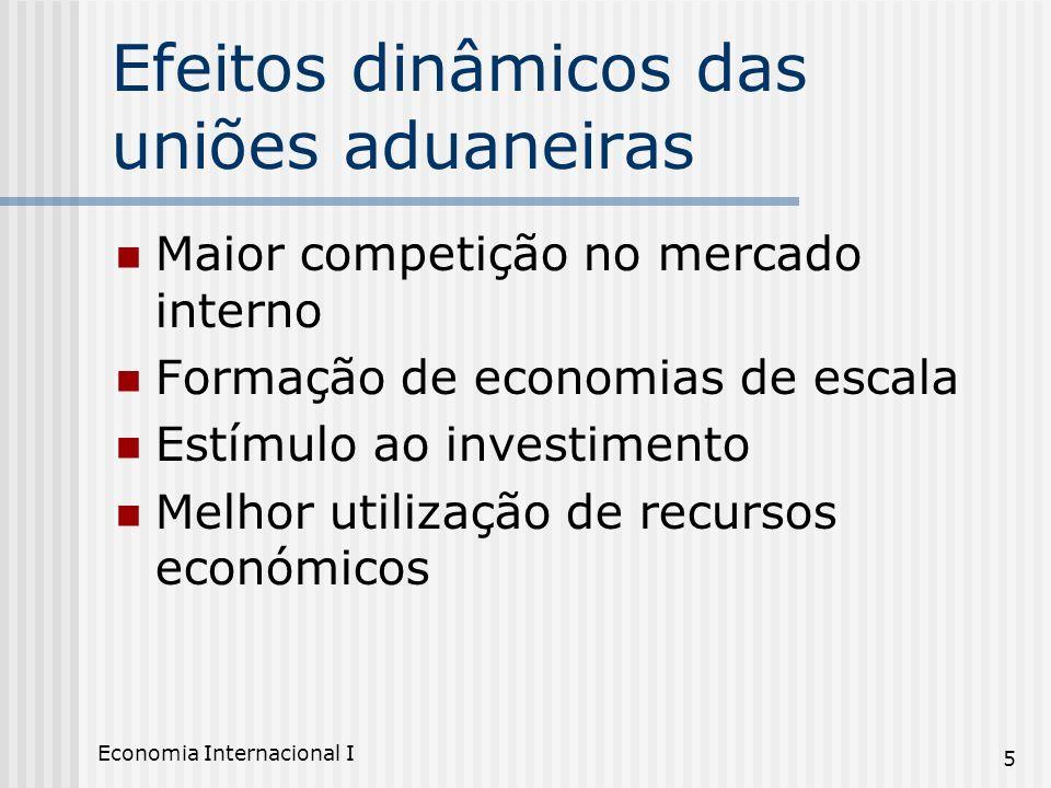 Efeitos dinâmicos das uniões aduaneiras