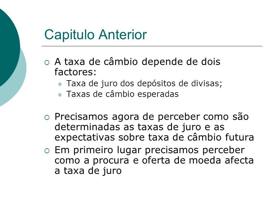Capitulo Anterior A taxa de câmbio depende de dois factores: