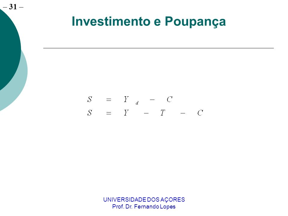 Investimento e Poupança