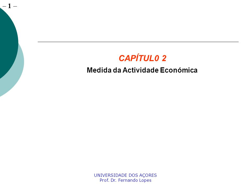 Medida da Actividade Económica