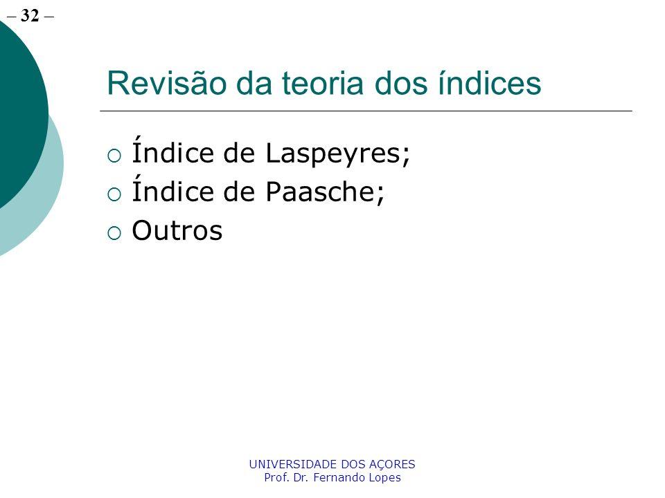 Revisão da teoria dos índices