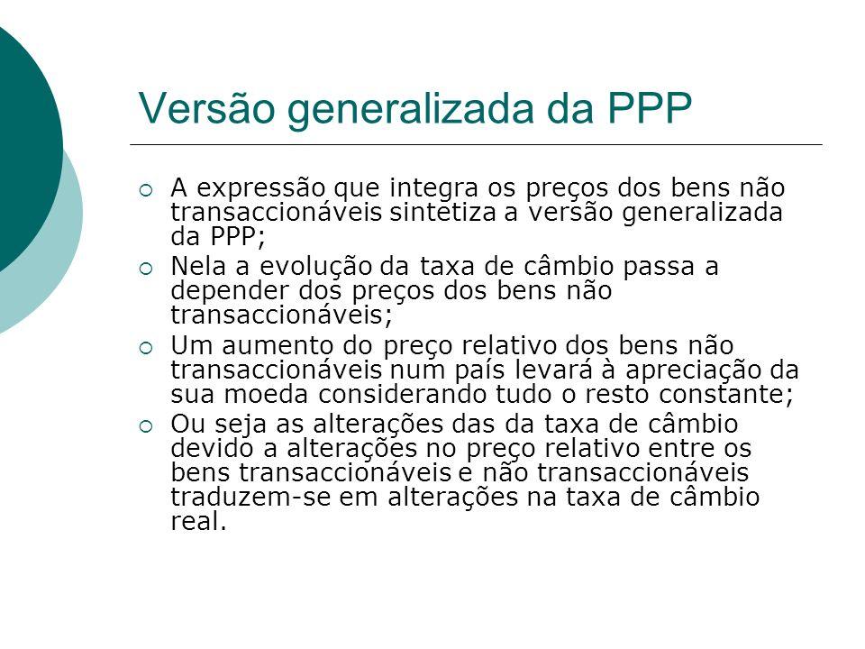 Versão generalizada da PPP