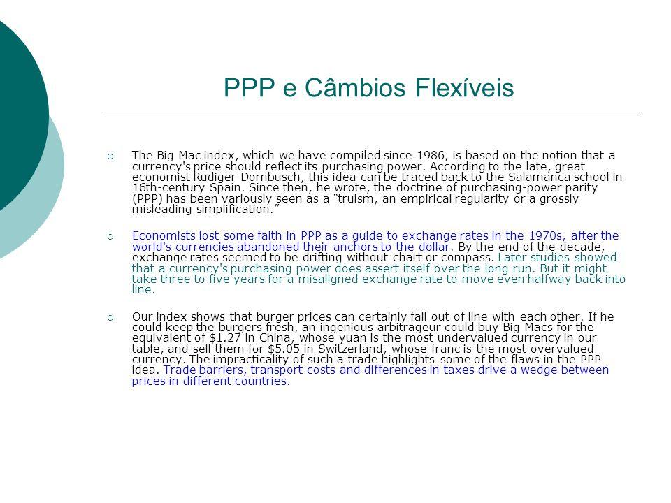 PPP e Câmbios Flexíveis