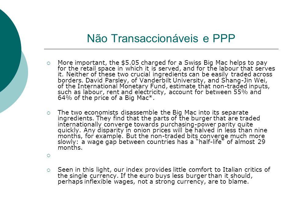 Não Transaccionáveis e PPP
