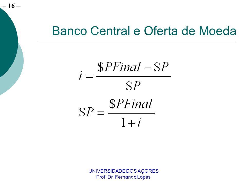 Banco Central e Oferta de Moeda