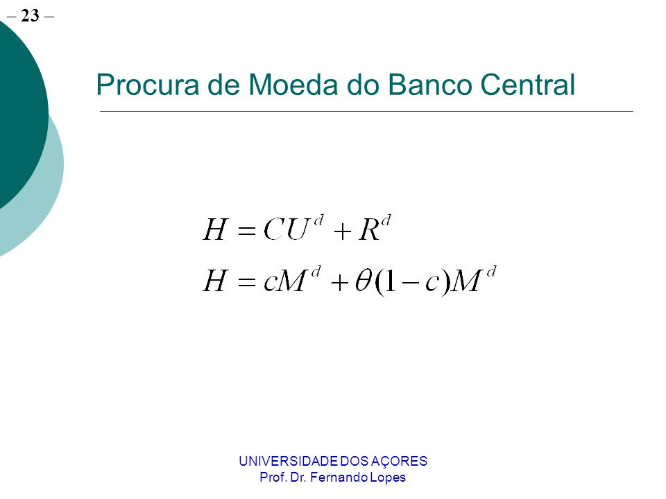 Procura de Moeda do Banco Central