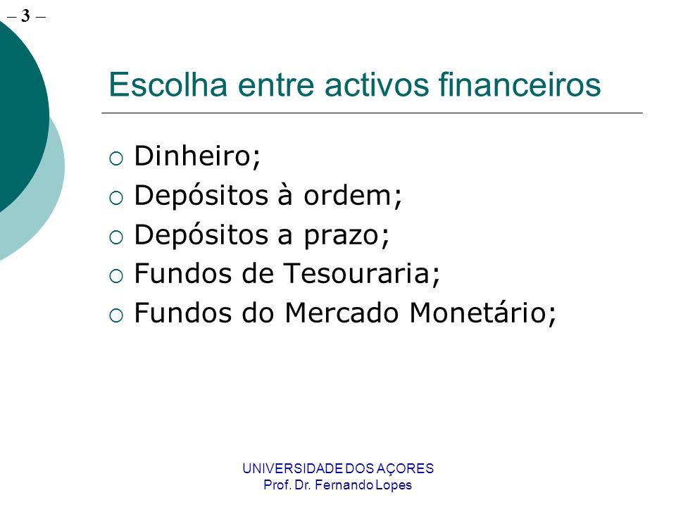 Escolha entre activos financeiros