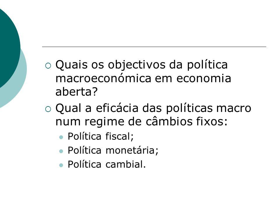 Quais os objectivos da política macroeconómica em economia aberta
