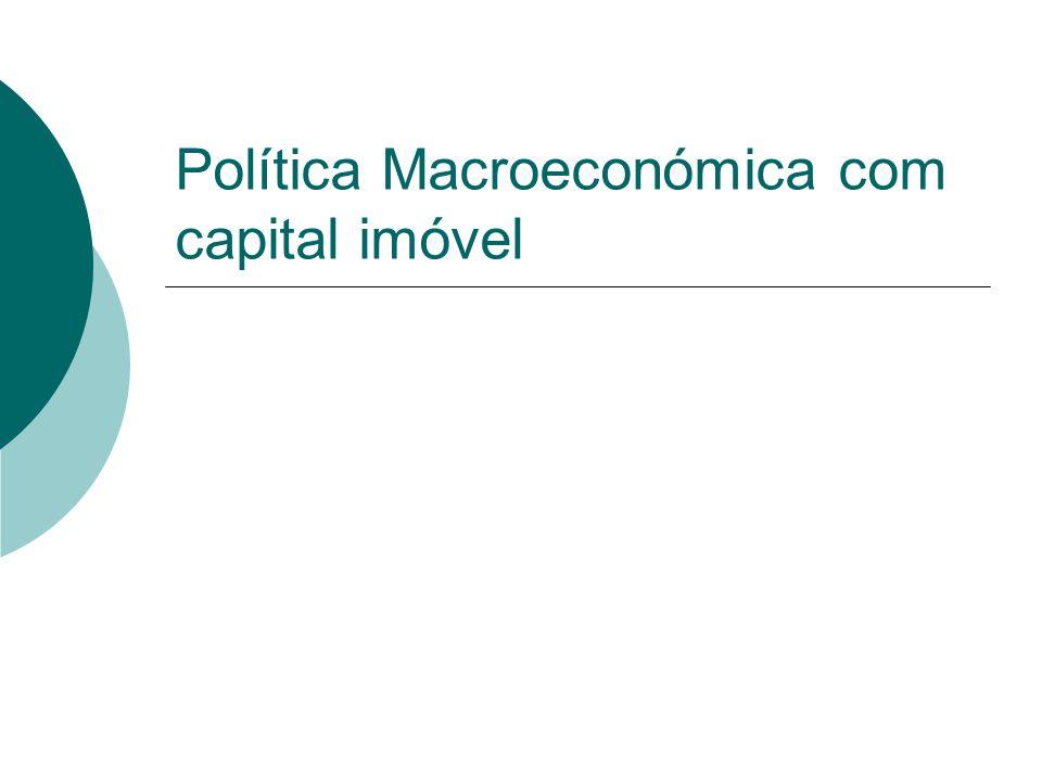Política Macroeconómica com capital imóvel