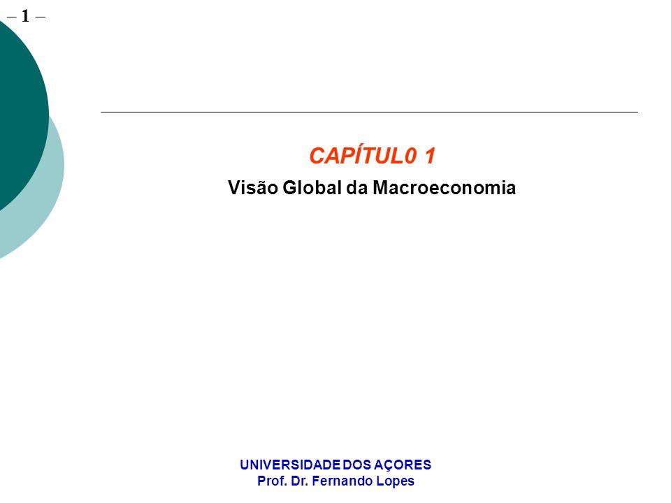 Visão Global da Macroeconomia UNIVERSIDADE DOS AÇORES