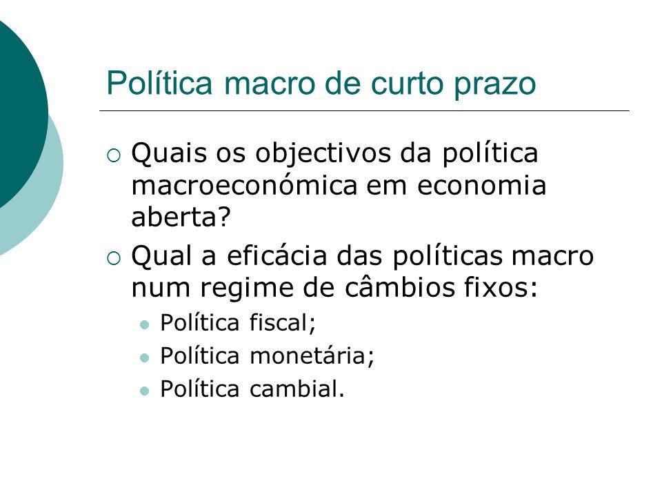 Política macro de curto prazo