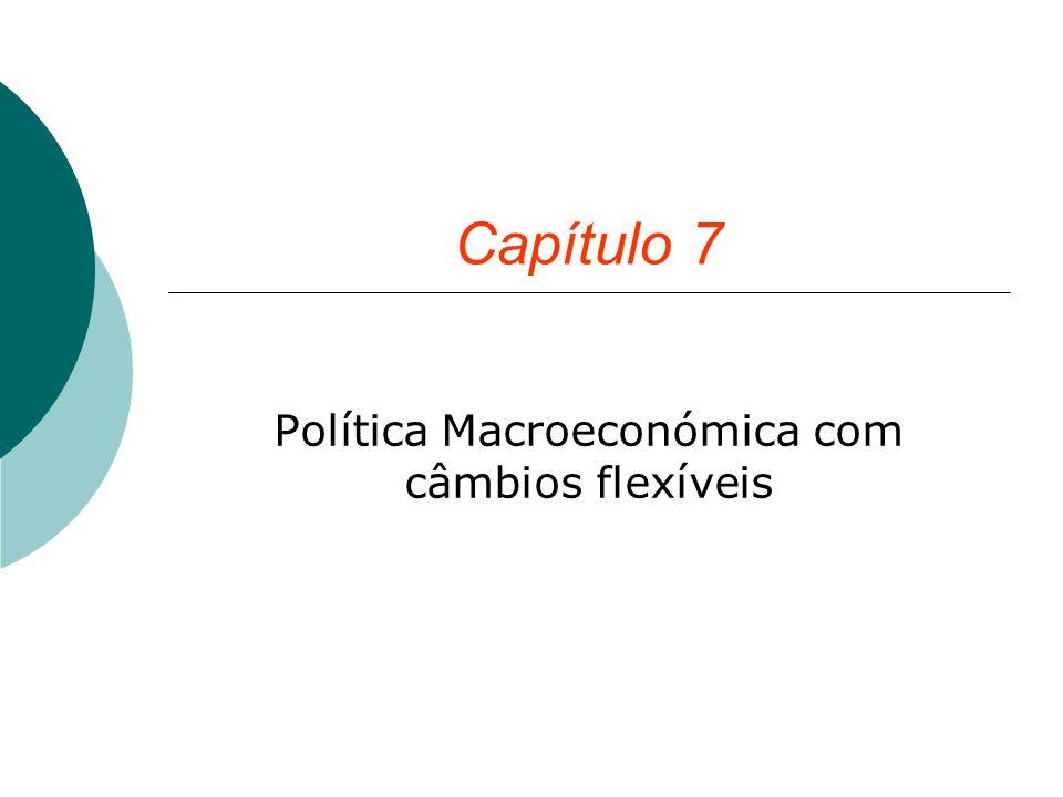 Política Macroeconómica com câmbios flexíveis