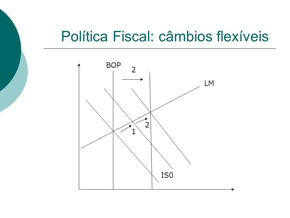 Política Fiscal: câmbios flexíveis