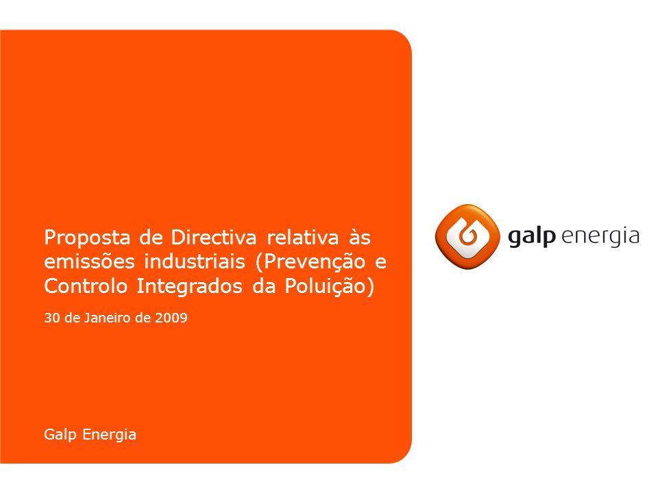 Proposta de Directiva relativa às emissões industriais (Prevenção e Controlo Integrados da Poluição)
