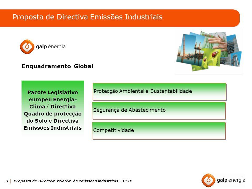 Proposta de Directiva Emissões Industriais