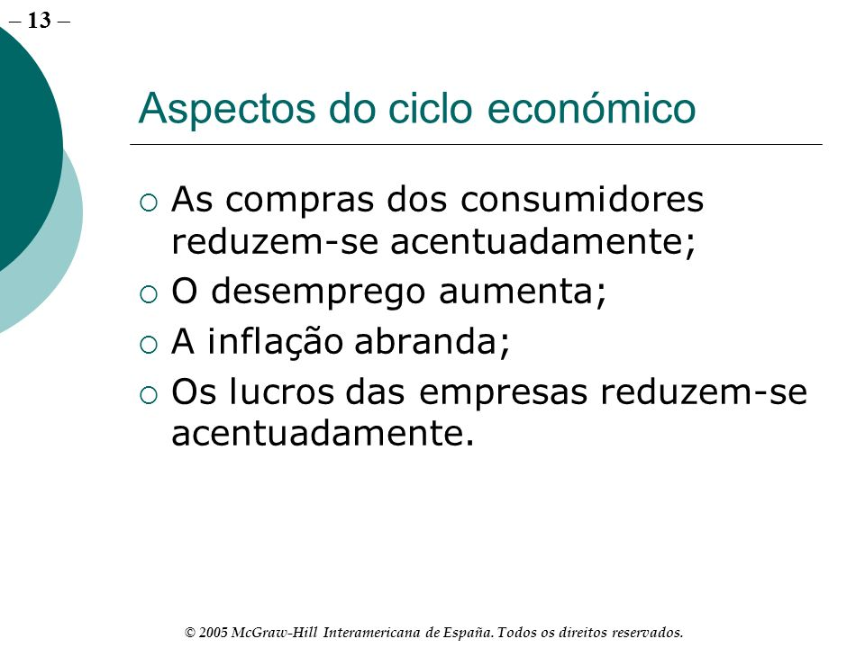 Aspectos do ciclo económico